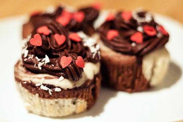 Kokos-Kakao-Cupcakes