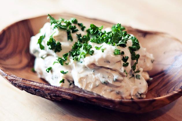 Soja-Frischkaese mit Kraeutern