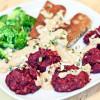 Rote Bete-Suesskartoffel-Plaetzchen mit Seitan & Walnuss ...