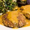 Tofupatties mit Orangen- Weisswein- Sauce