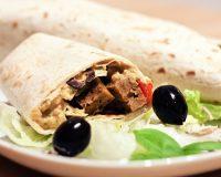 Wraps mit Seitan & Gemüse Füllung
