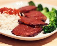 Gebackenes BBQ-Aprikosen Tofu