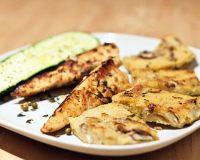 Champignon Polenta mit Sherry-Tempeh & gebackener Zucchini