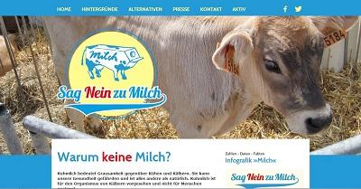 Sag Nein zu Milch