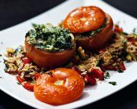 Gefüllte Tomaten & Bratreis