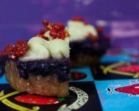 Rohe Blaubeer- Cupcakes mit Zitronen- Frosting