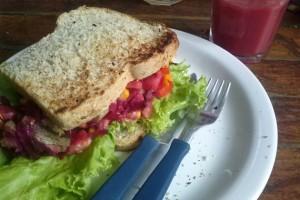 Sandwich im Casa da...