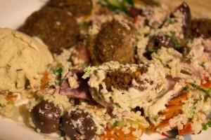 Maoz: Falafel-Box to go - sieht nicht so lecker aus wie es war. :)