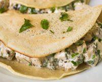 Tofu- Rucola Pancakes