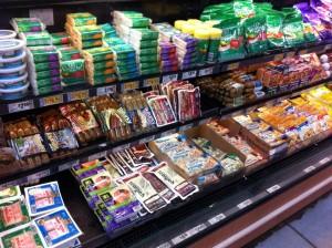 veganes Angebot im Supermarkt