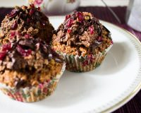 Haselnuss- Cupcakes mit Waffel- Frosting