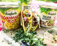 Kalte Tacos mit Bohnen und Goldmais