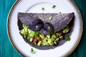 Blaue Maistortillas (mit Guacamole)