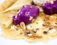 Crepes mit Blaubeer- Nicecream