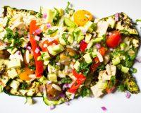 Kritharaki Salat mit eingelegtem Tofu & gegrillter Zucchini