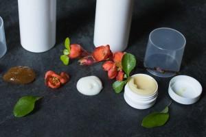 Aprikosen-Peeling, Aloe Vera- Gesichtscreme & Kakao- Lippenbalsam